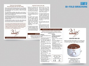Bifold Brochure Wax Necessities