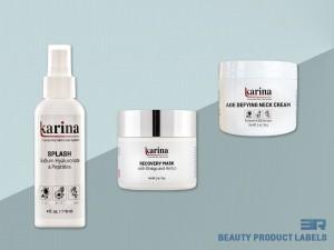 Karina Products Label