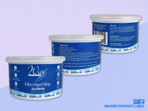 Wax Necessities Film Hard Wax Azulene Label
