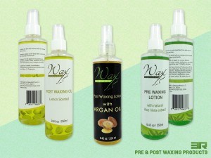 Wax Necessities Pre Post Waxing Products Labels