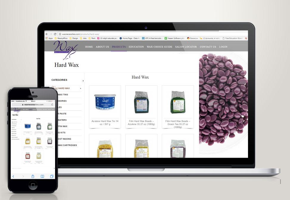 Wax Necessities Website Presentation